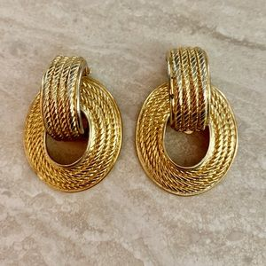 Givenchy clip two piece earrings